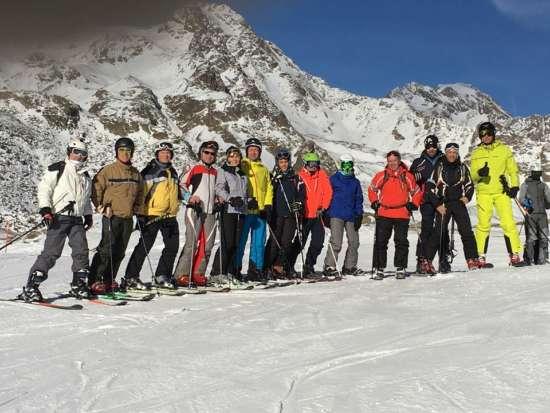 gruppo sciatori