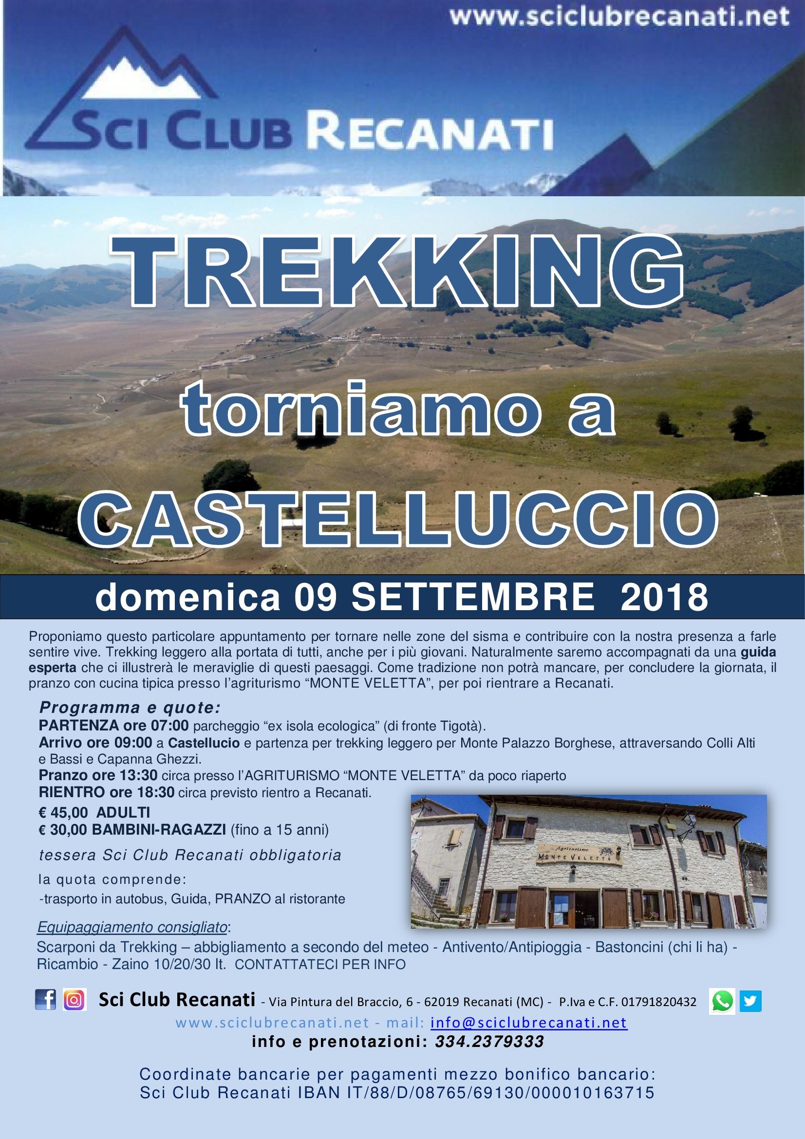 Trekking Castelluccio 2018
